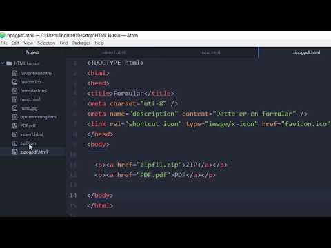 HTML Kursus For Begyndere #13 | ZIP-filer Og PDF´er