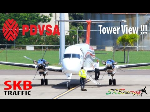 Tower View !! PDVSA Beech 1900D operating in and out of St. Kitts R.L.B Int'l Airport