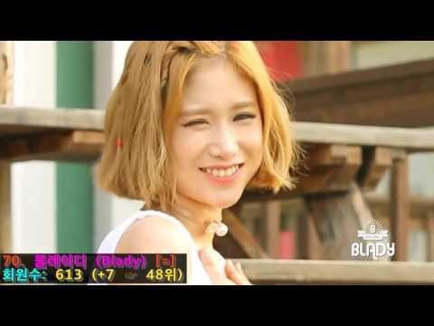 걸그룹 순위 - 다음 팬카페 회원수 (2016년 06월)