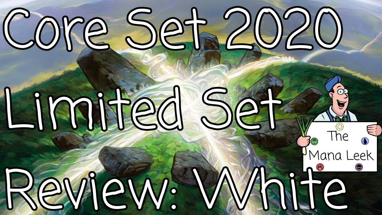Mana Tour Dates 2020 Magic Core Set 2020 White Limited Set Review   The Mana Leek   YouTube