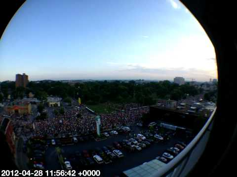 Nashville Country Music Marathon 2012 Start, Time-lapse with a Fisheye Lens