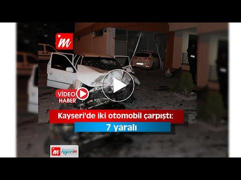 Kayseri'de iki otomobil çarpıştı 7 yaralı