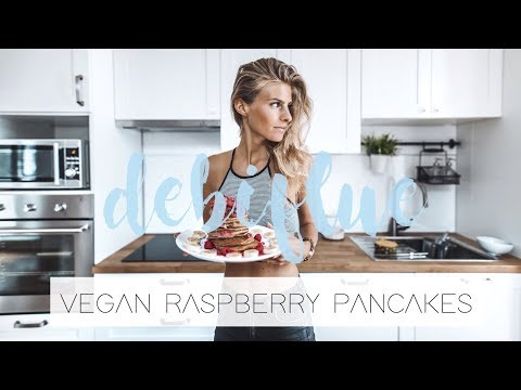 Healthy Vegan Raspberry Pancakes - no added sugar   DEBIFLUE