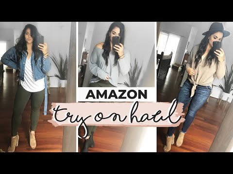 HUGE AMAZON FALL TRY ON HAUL 2019  Fall Outfit Ideas  Best Clothing From Amazon