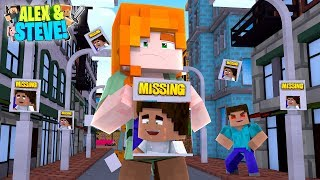 Minecraft ALEX AND STEVE - CAN ALEX FIND HER MISSING BABY??? Life of Alex & Steve