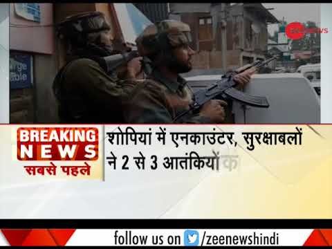 Terrorist encounter underway in Jammu & Kashmir's Shopian
