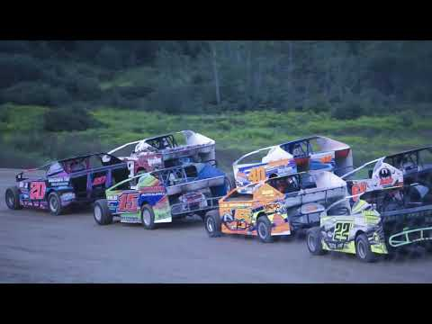 Crate Sportsman  Heat race 8/25/2018, Woodhull Raceway.  3 different video angles.