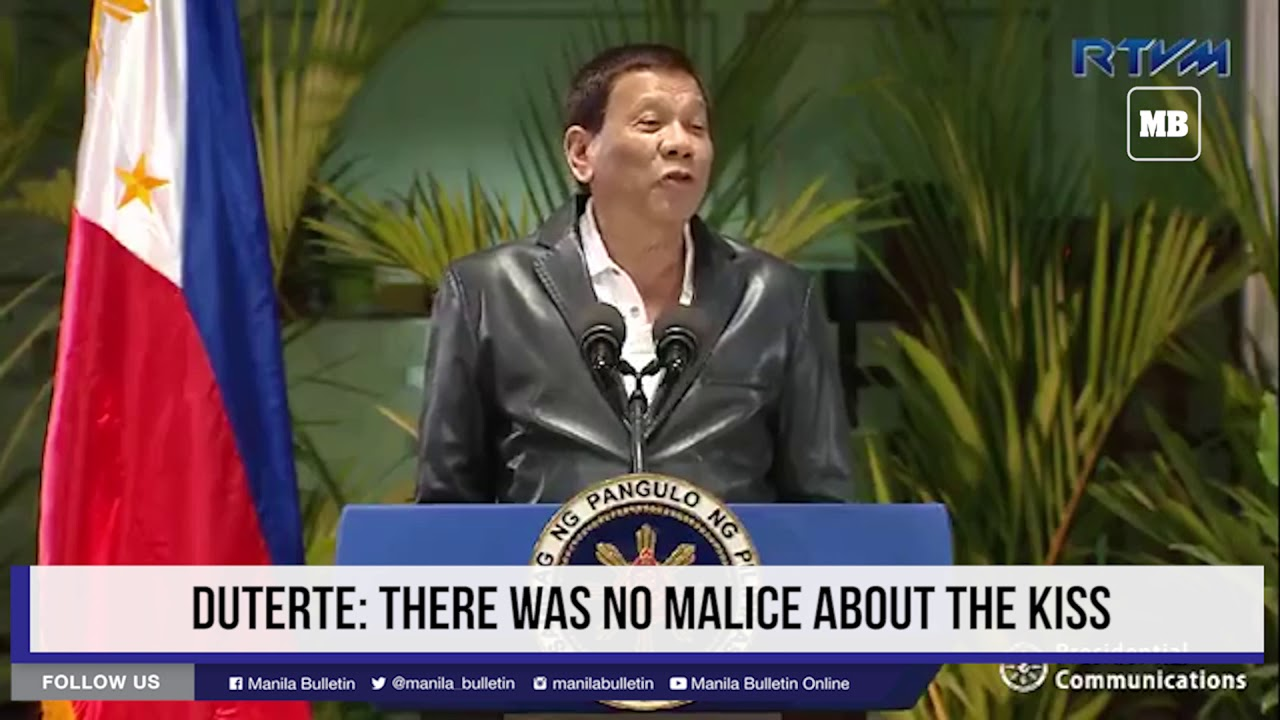 Duterte: There was no malice about the kiss