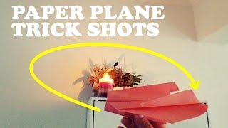 PAPER PLANE TRICK SHOTS | Awesome Paper Airplanes