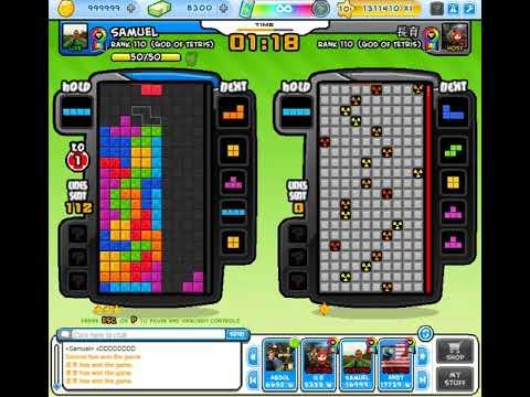 4 ᴡɪᴅᴇ 【Tetris Battle 2P】 - 369 lines by Samuel