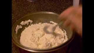 Home-made farmer cheese.