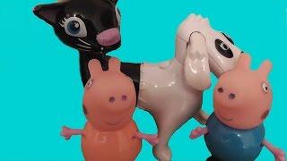 Свинка Пеппа Peppa Pig  и Джордж ругаются. Папа Свин подарил детям монстра Котопса.