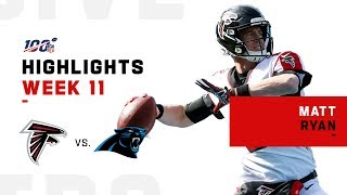 Matt Ryan Thrashes Panthers w/ 311 Yds | NFL 2019 Highlights
