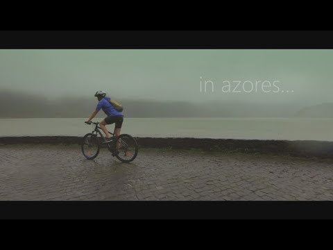 Cycling in the rain (Azores)