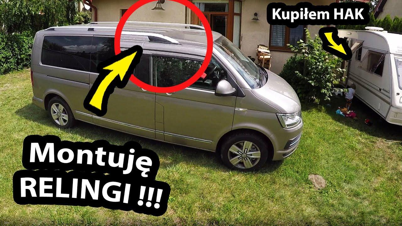Montuję RELINGI w VW T6 !!! - Odbieram Tablice, Kupiłem HAK i Umawiam Serwis Skrzyni DSG (Vlog #453)