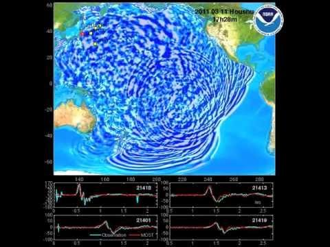 Sóng Thần 2011 ở Nhật Bản lan tràn khắp Thái Bình Dương