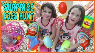 EASTER EGG HUNT Toy Story Toys, Kinder Joy Surprise Eggs, Water Gun Fight, Family Fun for Everyone