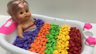 Baby Doll Bath Time | The Surprise For Kids
