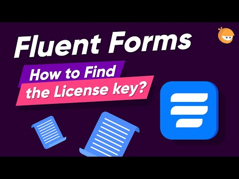 How to Find WP Fluent Forms License Key | WP Fluent Forms