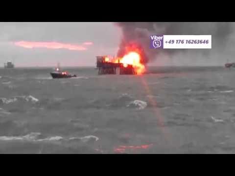 Major Fire On Offshore Oil Platform  Leaves 30 Missing in Caspian Sea