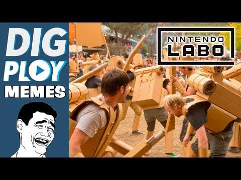 DIGMEMES - Reagindo aos memes de Nintendo LABO