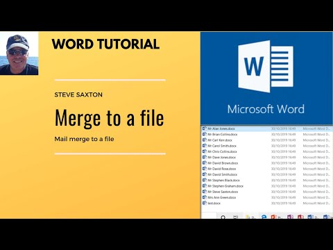 How To Use Microsoft Word's Mail Merge Feature To Merge Into Individual Files.