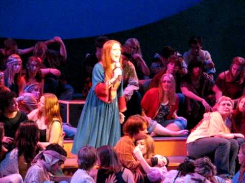 Josie Vorenkamp sings from the musical 'Hair' 'Eas...