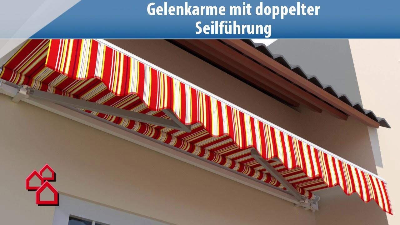 Gelenkarm-Markisen - Bauhaus - Youtube