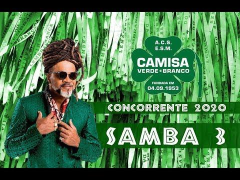 Download 🍀CAMISA VERDE E BRANCO 2020 - Samba Concorrente #SAMBA03 (Léo Trindade e Cia)