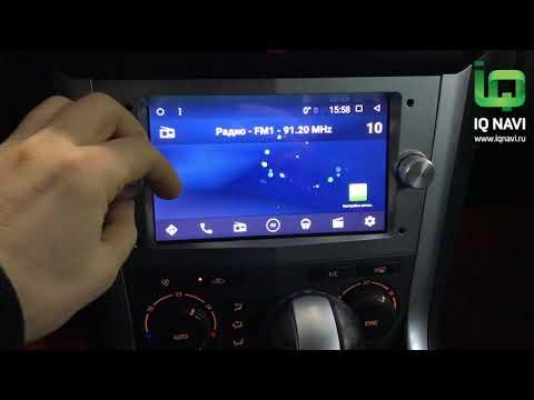 Магнитола IQ NAVI на Андроиде универсальная для Опель