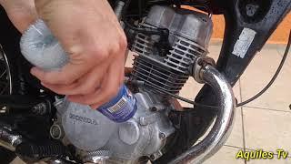 Como Limpar E Dar Brilho No Motor Da Moto Encardido E Amarelado.