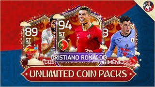 FIFA MOBILE 18 10 MILLION UNLIMTED COIN WORLD CUP PACK OPENING EXTRAVAGANZA