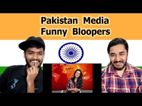 Indian reaction on Pakistan Media Funny Bloopers | Swaggy d