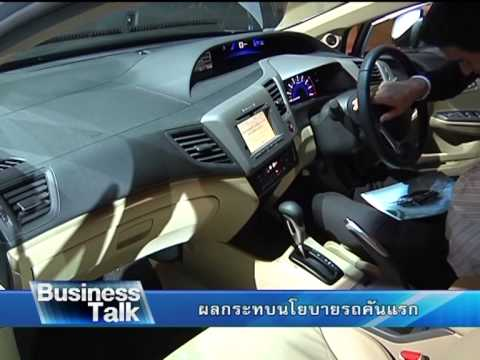 Business Talk   ผลกระทบนโยบายรถคันแรก เบรค 2