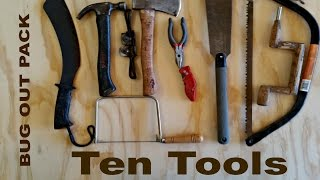 Bug Out Pack - What 10 Woodworking Tools Would You Take?