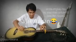 Sayang lahir batin Wali - Fingerstyle guitar, experimen gitar tidur wkwk...