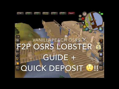 OSRS F2P Lobster Fishing Guide + Quick Deposit