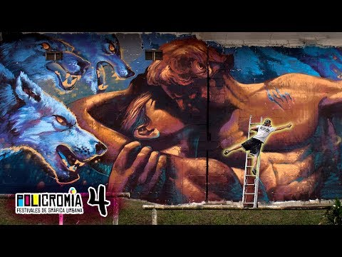 """INFINITE LOVE"" Huge Street Art Mural - Policromia Tour(EP04)"