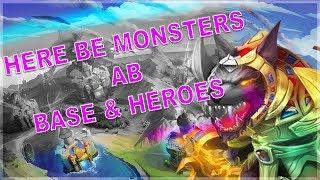 castle clash #372 - Here be Monsters AB Base & Heroes - Schloss Konflikt Hier kommen die Monster AB
