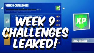 Season 7 Week 9 Challenges Leaked In Fortnite Battle Royale