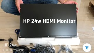 HP 24w HP 24 inch LED Monitor with HDMI VGA: Unboxing & Review