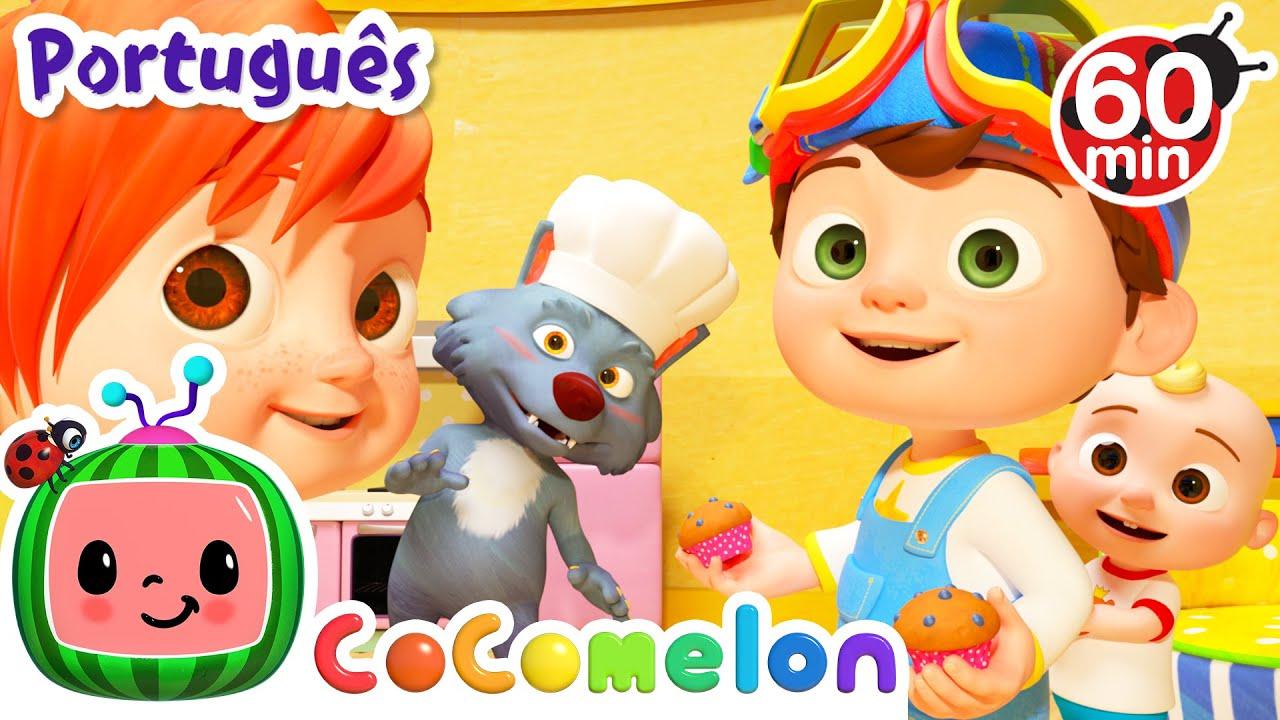 CoComelon em Português   O homem do bolinho   Músicas Infantis   Desenhos Animados