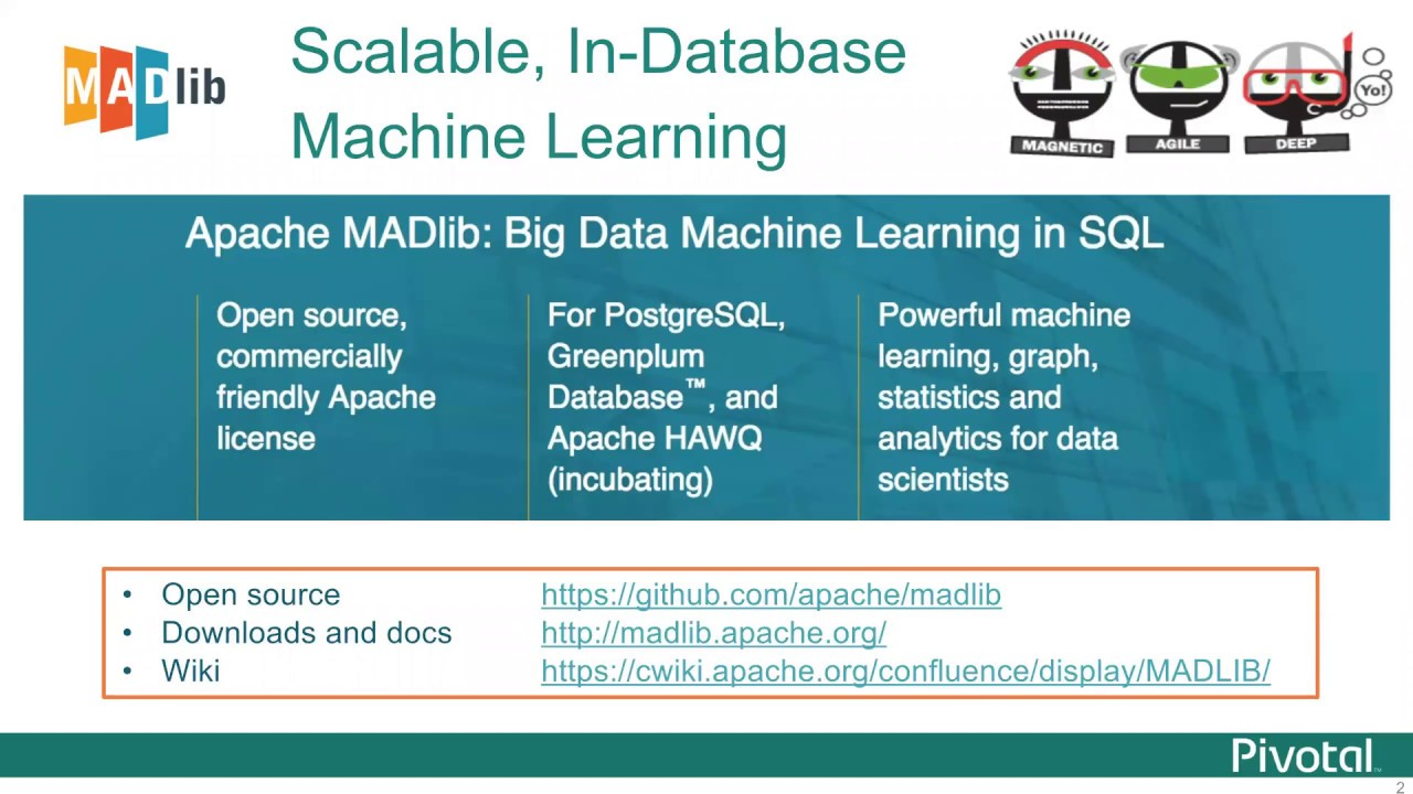 Machine Learning on Greenplum with Apache MADlib