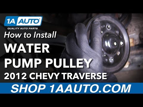 How To Replace Water Pump Pulley 09-14 Chevy Traverse