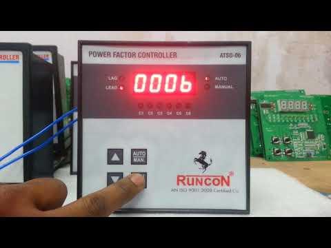 APFC Relay programing  (automatic power factor correction relay )   ATSO -06 / RuncoN 9717152559