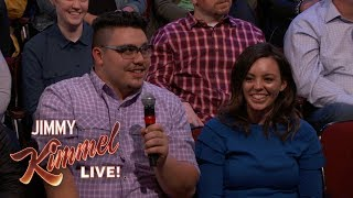 Behind the Scenes with Jimmy Kimmel & Audience (Fence Salesman)