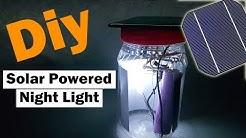 DIY Solar Powered  Night Light at Home 🇺🇸