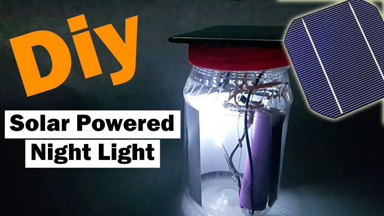 DIY Solar Powered Night Light at Home 🇺🇸 - YouTube