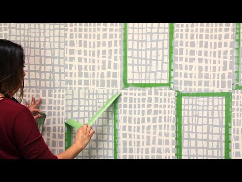 How to Paint a Two-Tone Wall Finish with DIY Texture Wall Stencils