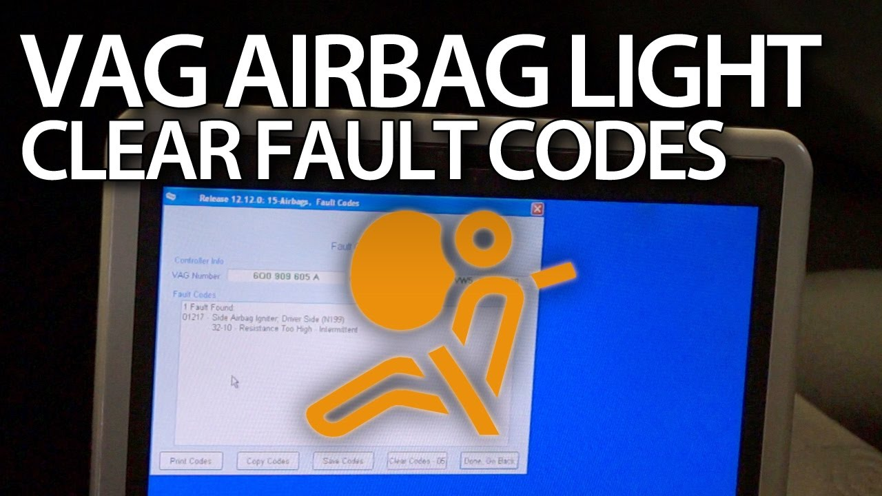 Clear Airbag Warning Light Srs Fault In Volkswagen Audi Skoda 2012 Beetle Fuse Box